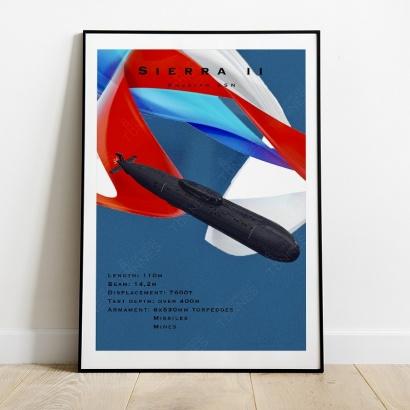 "Poster ""Sierra II"" class Russian submarine"