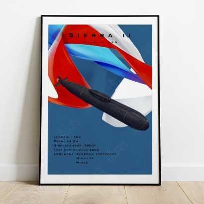 Affiche Poster sous-marin Sierra II