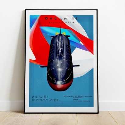 "Poster ""Oscar II"" class Russian submarine"