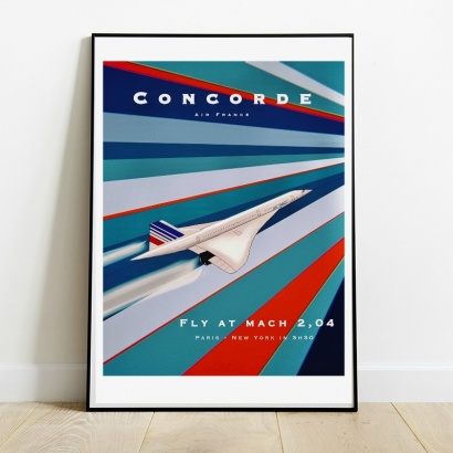Affiche Poster Concorde Air France Mach 2,04