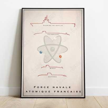 """Affiche Poster """"Force Navale Atomique Française"""""""