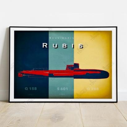 """Affiche Poster histoire des bâtiments """"Rubis"""""""