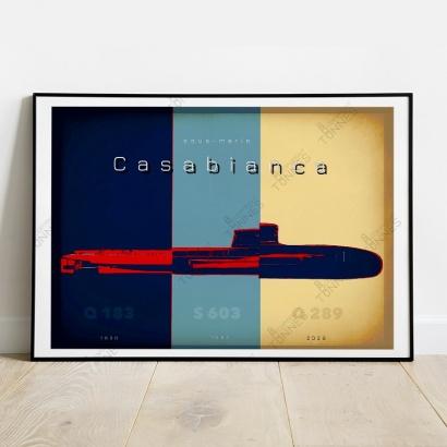 """Affiche Poster histoire des bâtiments """"Casabianca"""""""