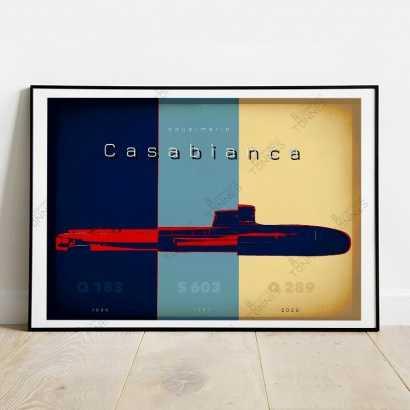 "Poster History of ""Casabianca"" submarines"