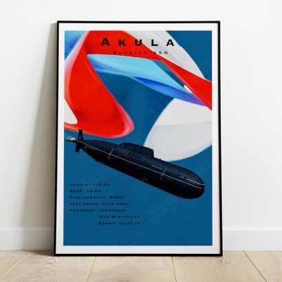 Poster Russian SSN Akula project 971