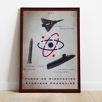 "Poster Vintage  French ""Triade Nuclear Force"""