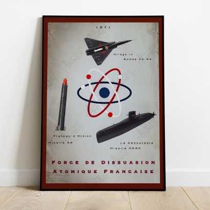 """Affiche Poster """"Triade Nucléaire Française"""""""
