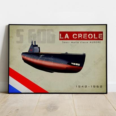"""Affiche Poster sous-marin """"La Créole"""""""
