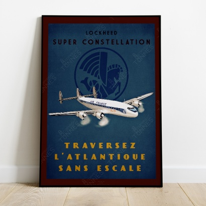 "Affiche Poster ""Super Constellation"" Air France"