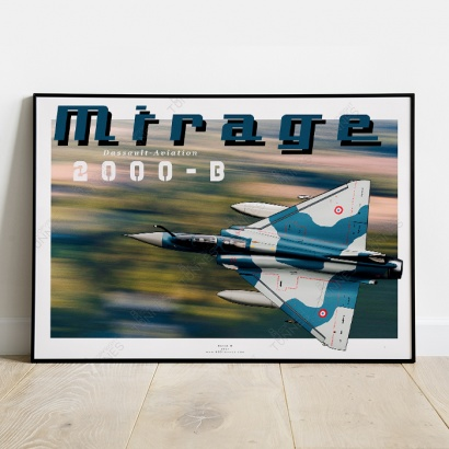 Poster Mirage 2000-B French Aircraft