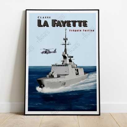 Affiche Poster Frégate classe Lafayette