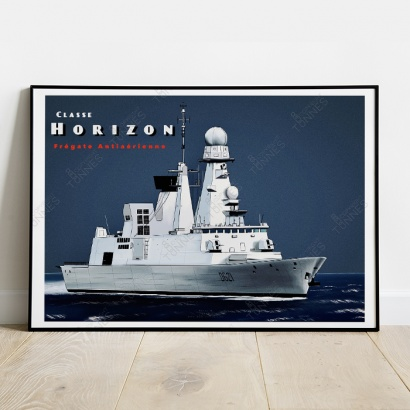 Poster of the French frigate Horizon class