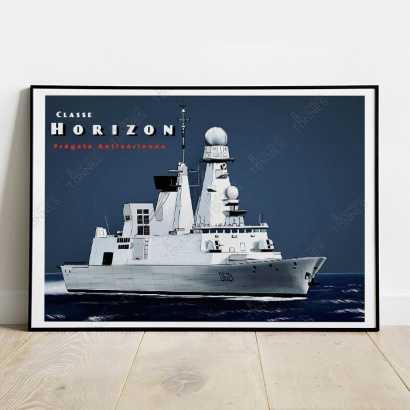 Affiche Poster Frégate classe Horizon