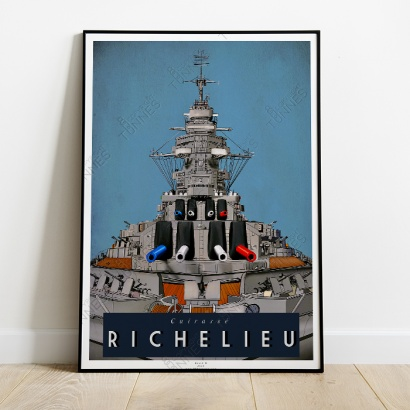 "Poster ""Richelieu"" french Battleship"