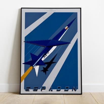 Affiche Poster Avion Espadon