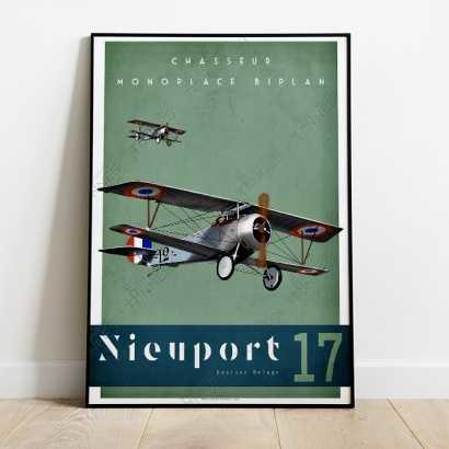 Affiche Poster Nieuport-17