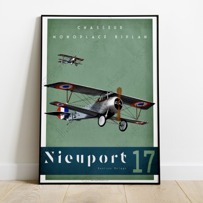"Poster of the ""Nieuport 17"" french aircraft."
