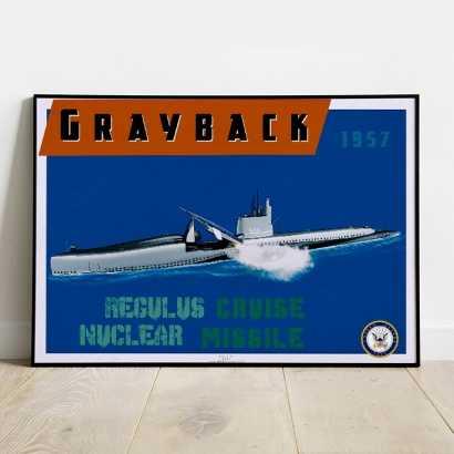 Poster Submarine U.S.S. Grayback