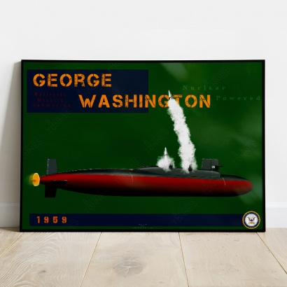 Poster submarine George Washington class