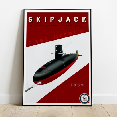 Affiche Poster sous-marin USS Skipjack