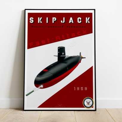 Poster submarine USS Skipjack