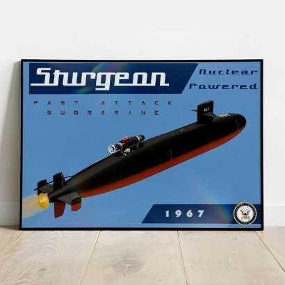 Affiche Poster sous-marin USS Sturgeon