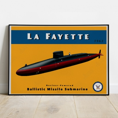 Affiche Poster sous-marin USS Lafayette