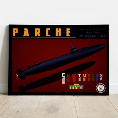 Affiche Poster sous-marin USS Parche