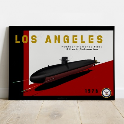 Affiche Poster sous-marin USS Los Angeles