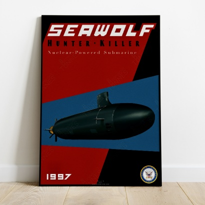 Affiche Poster sous-marin USS Seawolf