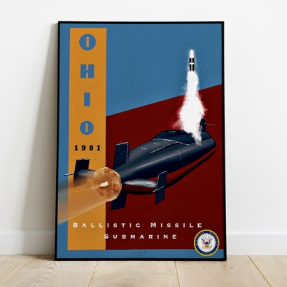 Affiche Poster sous-marin USS Ohio
