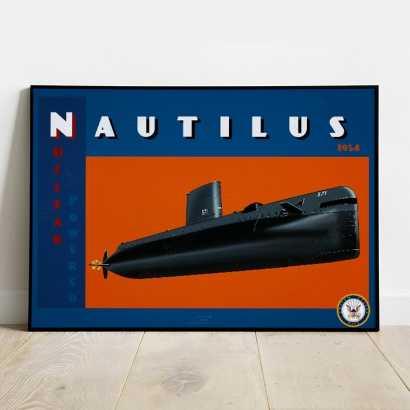 Affiche Poster sous-marin USS Nautilus