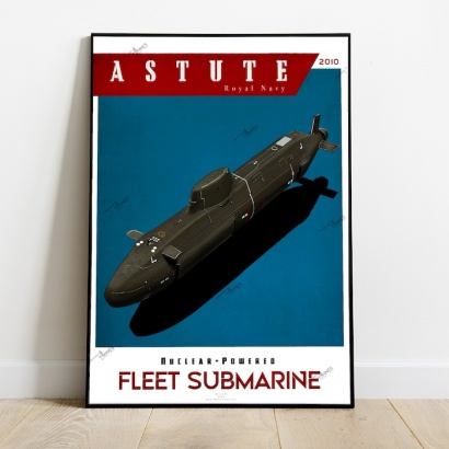 Poster submarine class Royal Navy