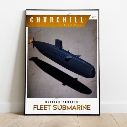 Poster submarine Churchill class Royal Navy