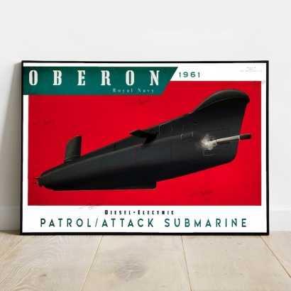 Poster submarine Oberon class Royal Navy
