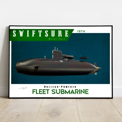 Poster submarine Swiftsure class Royal Navy