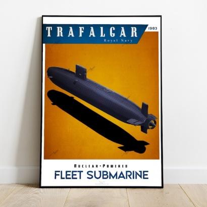 Poster submarine Trafalgar class Royal Navy