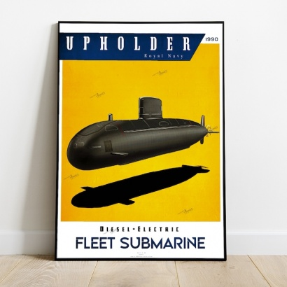 Poster sous-marin classe Upholder