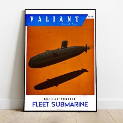 Poster submarine Valiant class Royal Navy