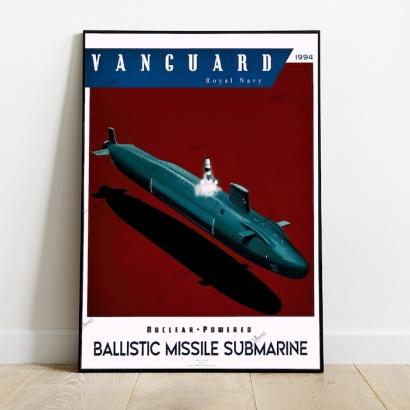 Poster sous-marin classe Vanguard