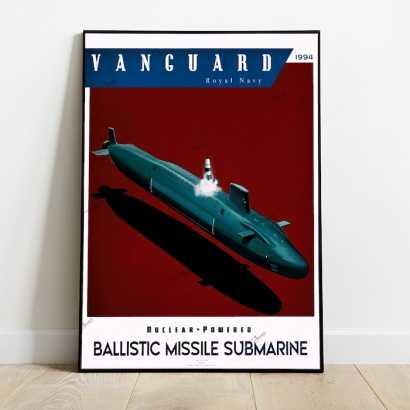 Poster submarine Vanguard class Royal Navy