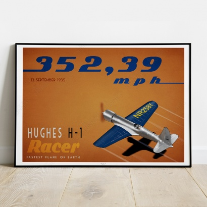 Poster Hugues Aircraft H-1 Racer Speed record