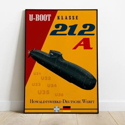 Affiche poster sous-marin Type 212A