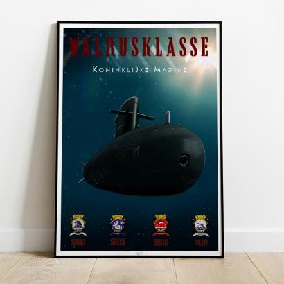 Affiche poster sous-marin Classe Walrus