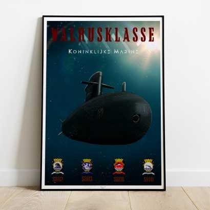 Poster submarine Walrus Class