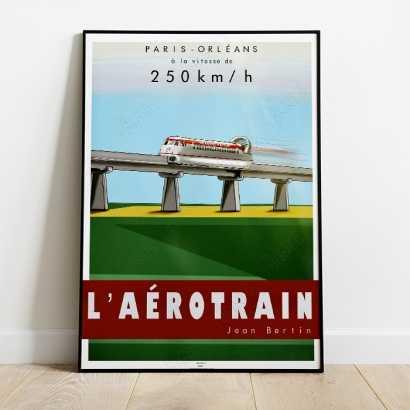 Affiche Poster Aérotrain I80-250