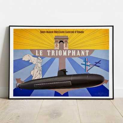 "Poster SSBN ""Le Triomphant"" Tampion"
