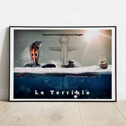"Poster SSBN ""Le Triomphant"" official tampion"