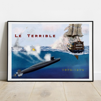 "Poster ""Le Terrible"" SNLE"