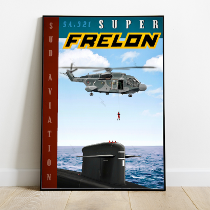 Poster Super Frelon helicopter